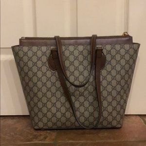 Gucci GG Linea A Supeeme canvas and leather tote